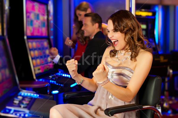 Сток-фото: друзей · казино · женщину · человека