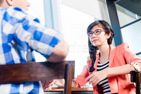 Creative агентство рабочие мозговая атака бизнеса женщину Сток-фото © Kzenon