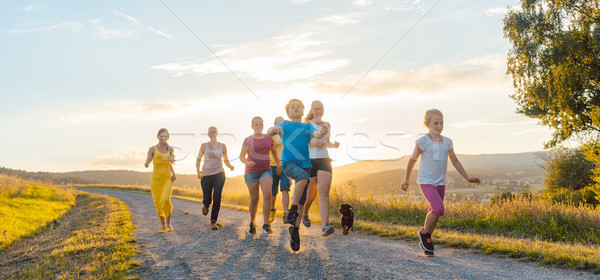 семьи работает играет пути лет Сток-фото © Kzenon