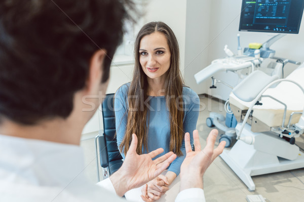 Woman visiting the gynecologist doctor Stock photo © Kzenon