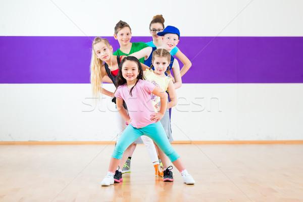 Stok fotoğraf: çocuklar · tren · zumba · uygunluk · dans