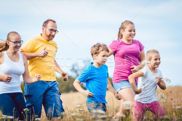 Rodziny uruchomiony fitness lata jogging Zdjęcia stock © Kzenon