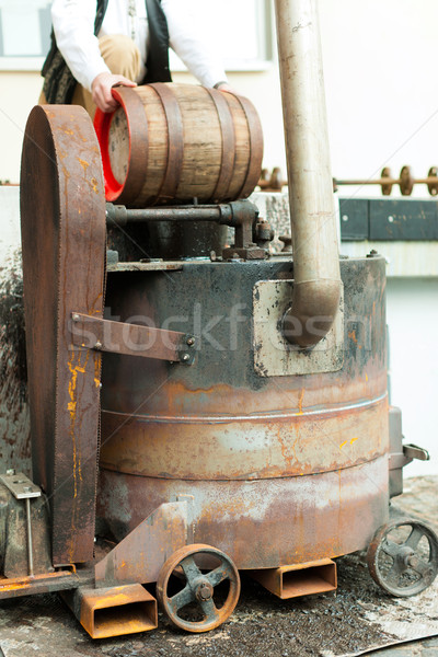 Brewer with beer barrel in brewery  Stock photo © Kzenon
