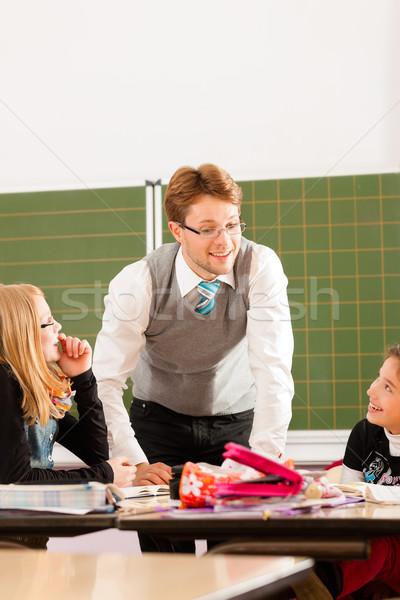 éducation élèves enseignants apprentissage école élémentaire Photo stock © Kzenon