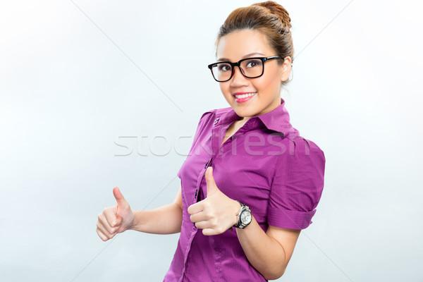 Asian Business woman having success  Stock photo © Kzenon