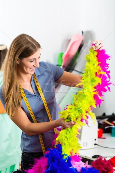 Mode designer sur mesure travail studio Photo stock © Kzenon
