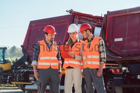 Man and woman worker on construction site Stock photo © Kzenon