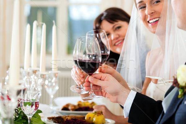 Boda fiesta cena Pareja mujer Foto stock © Kzenon