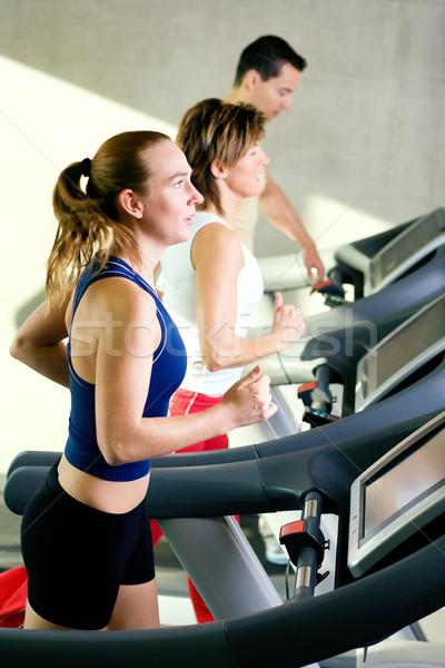 Running in the gym Stock photo © Kzenon