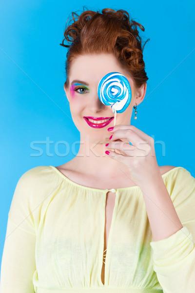Girl with a lollypop Stock photo © Kzenon