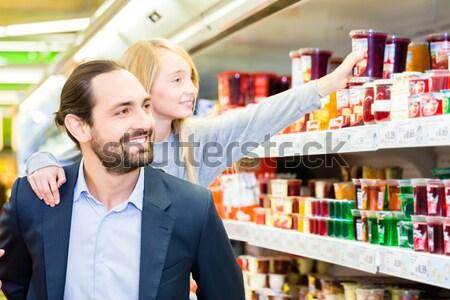 Família compra sobremesa pai filha Foto stock © Kzenon