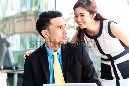 Asian Businesspeople with sexual harassment problem Stock photo © Kzenon