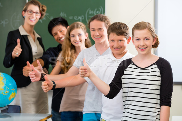school class teacher motivating students  Stock photo © Kzenon