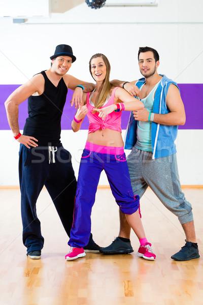 Dansçı zumba uygunluk eğitim dans stüdyo Stok fotoğraf © Kzenon