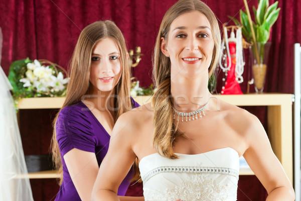 Mariée vêtements magasin mariage robes Photo stock © Kzenon