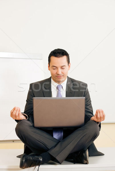 Meditation upon desk Stock photo © Kzenon