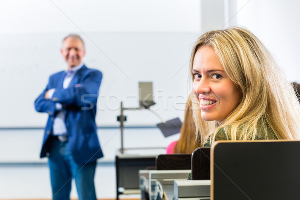 Students learing in college lecture Stock photo © Kzenon