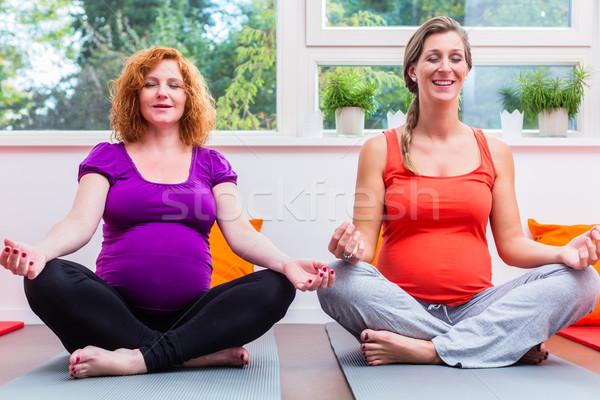二人の女性 高度な 妊娠 クラス 経験 座って ストックフォト © Kzenon