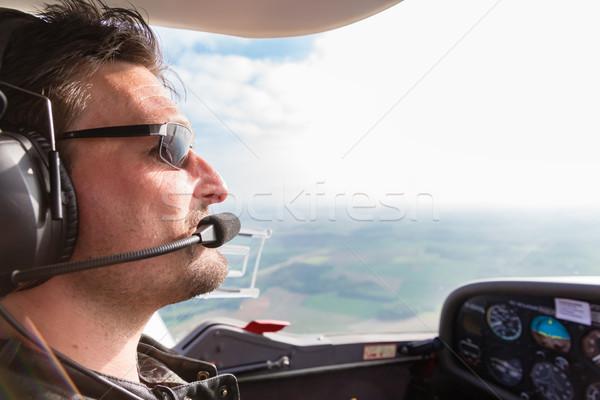 Sport Pilot flying his plane Stock photo © Kzenon