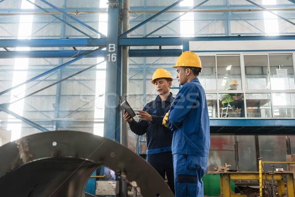 Deskundigen informatie moderne fabriek asian Stockfoto © Kzenon