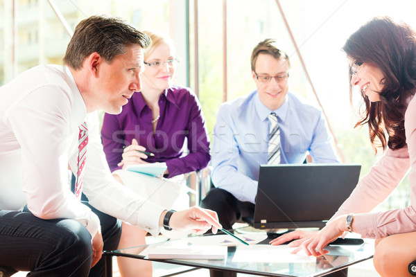 Ludzi biznesu spotkanie biuro warsztaty zysk wzrostu Zdjęcia stock © Kzenon