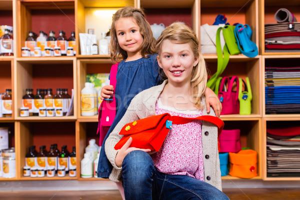 Children buying supplies in handicraft store Stock photo © Kzenon