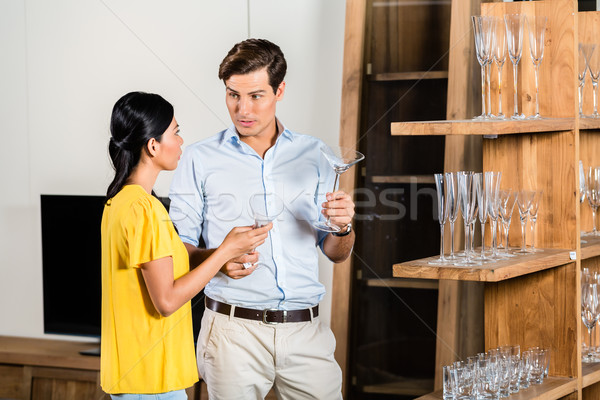 Couple in furniture store  Stock photo © Kzenon