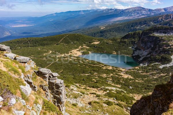 View on the seven Rila lake region in the bulgarian mountains Stock photo © Kzenon