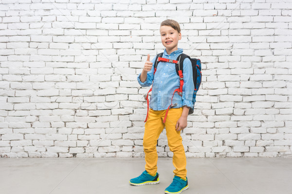 Boy with his rucksack going to school Stock photo © Kzenon