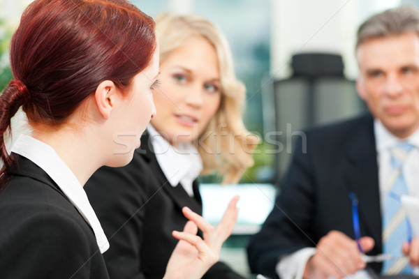 Foto stock: Negocios · equipo · reunión · oficina · gente · de · negocios · jefe