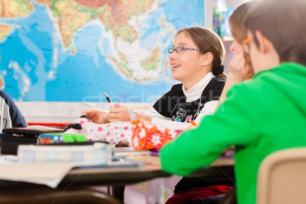 образование школы домашнее задание первичный Сток-фото © Kzenon