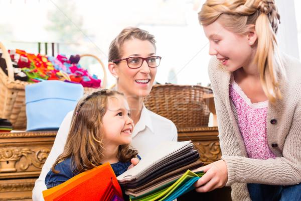 Family buying supplies  in handicraft store Stock photo © Kzenon