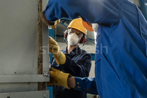 ストックフォト: 2 · 労働 · 着用 · 産業 · 圧力