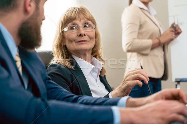 Portrait of a middle-aged woman with an impressive career during Stock photo © Kzenon