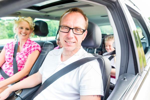 家族 運転 車 座席 ベルト 男 ストックフォト © Kzenon