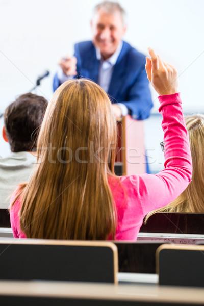 College professor giving lecture for students Stock photo © Kzenon