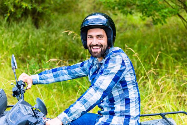 Człowiek jazdy rowerów sportu lata zabawy Zdjęcia stock © Kzenon
