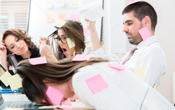 Office workers are stressed and overworked Stock photo © Kzenon