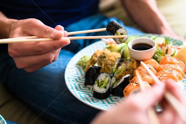 Close-up of traditional Japanese food during romantic dinner at  Stock photo © Kzenon