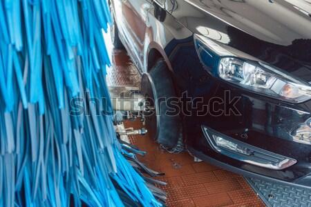 Fırçalamak oto yıkama araç sabun yıkamak yıkama Stok fotoğraf © Kzenon