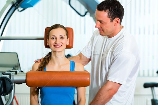 Patient physiothérapie physiothérapie femme homme Photo stock © Kzenon