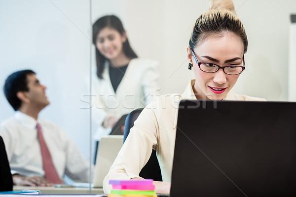 Biuro mówić plotka za powrót Zdjęcia stock © Kzenon
