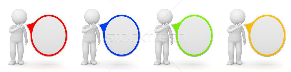 3D Rendering of a man with speech bubble Stock photo © Kzenon