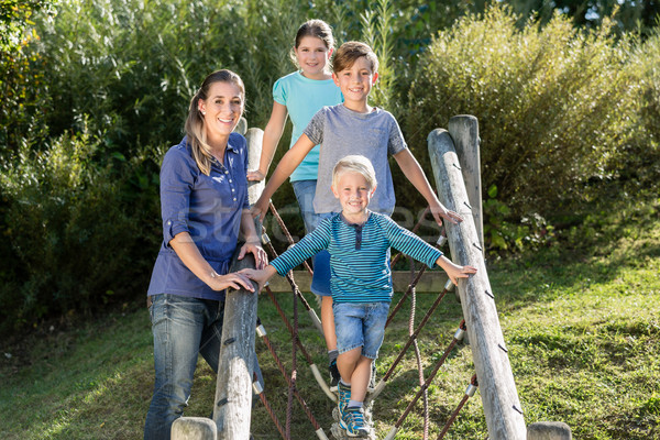 家族 子供演奏 冒険 遊び場 幸せな家族 女性 ストックフォト © Kzenon