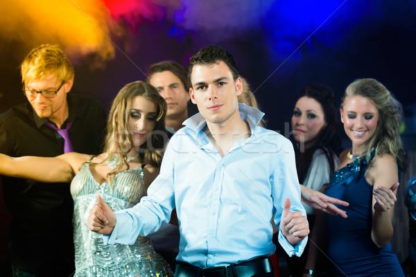 Partij mensen dansen disco club jongeren Stockfoto © Kzenon
