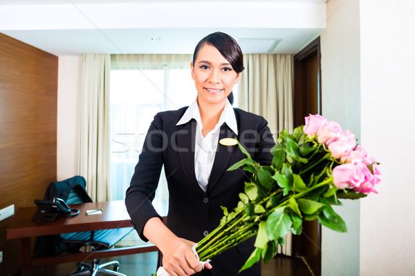 Cakarta portre otel müdür Stok fotoğraf © Kzenon