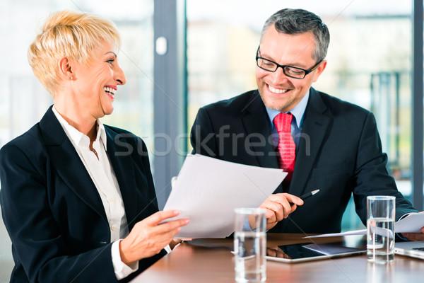 Affaires réunion personnes bureau travail document bureau Photo stock © Kzenon