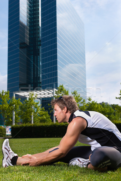 Urban sports - fitness in the city Stock photo © Kzenon