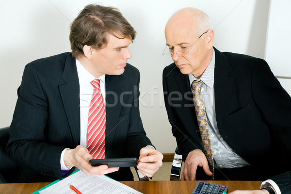 Crunching numbers Stock photo © Kzenon