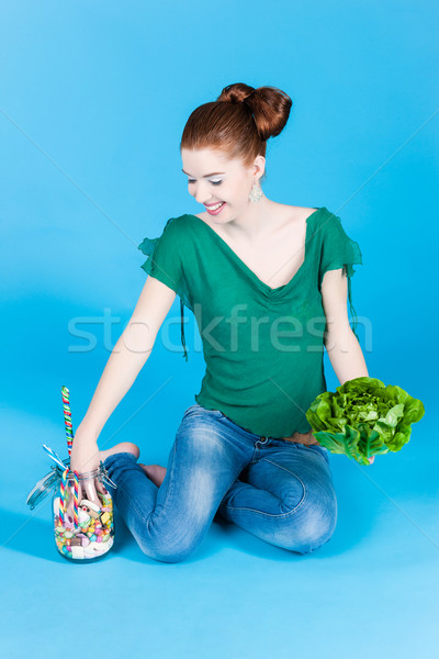 Healthy food - sweets and Greens Stock photo © Kzenon